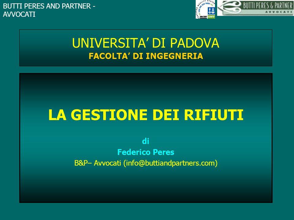 UNIVERSITA' DI PADOVA FACOLTA' DI INGEGNERIA