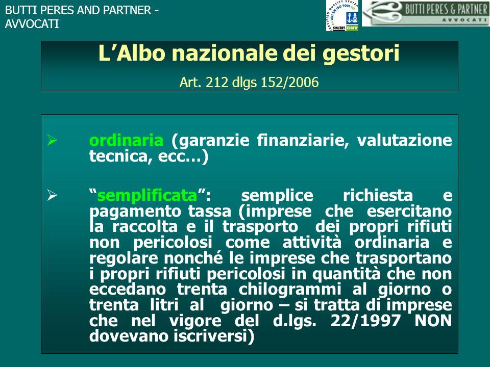 L'Albo nazionale dei gestori Art. 212 dlgs 152/2006