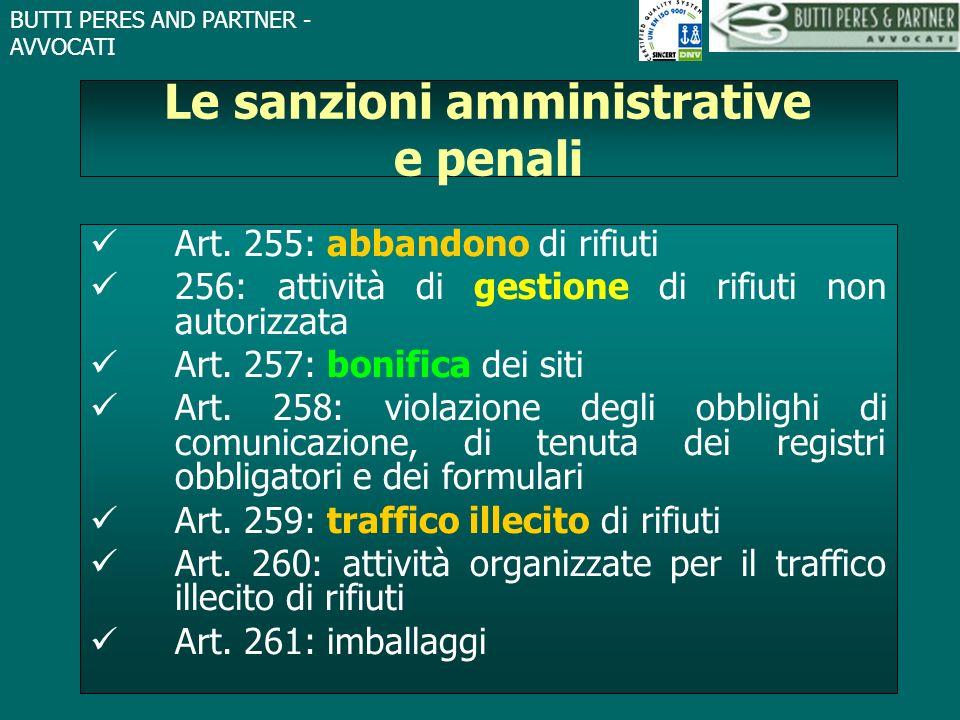Le sanzioni amministrative e penali