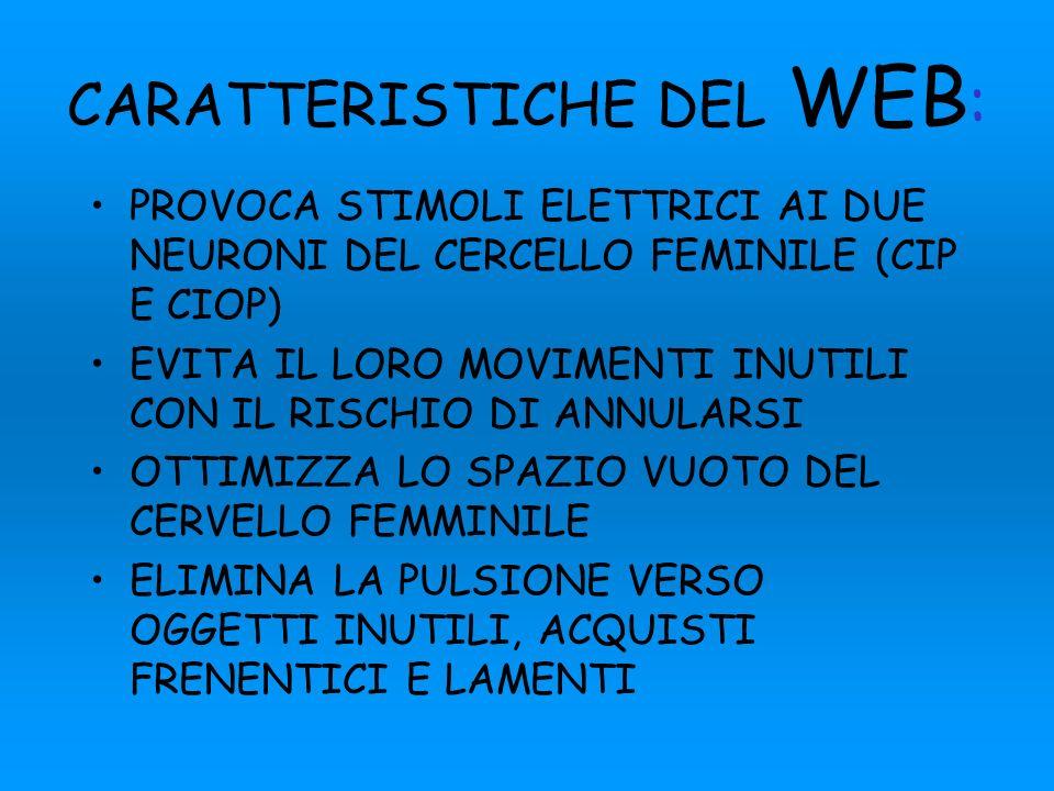 CARATTERISTICHE DEL WEB: