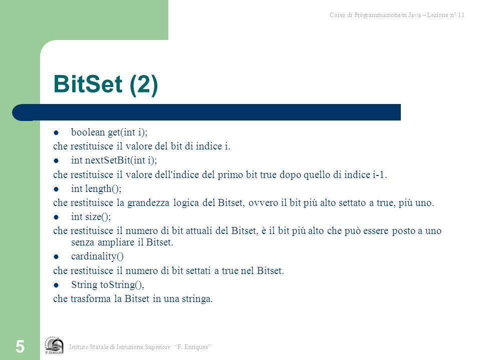 BitSet (2) boolean get(int i);
