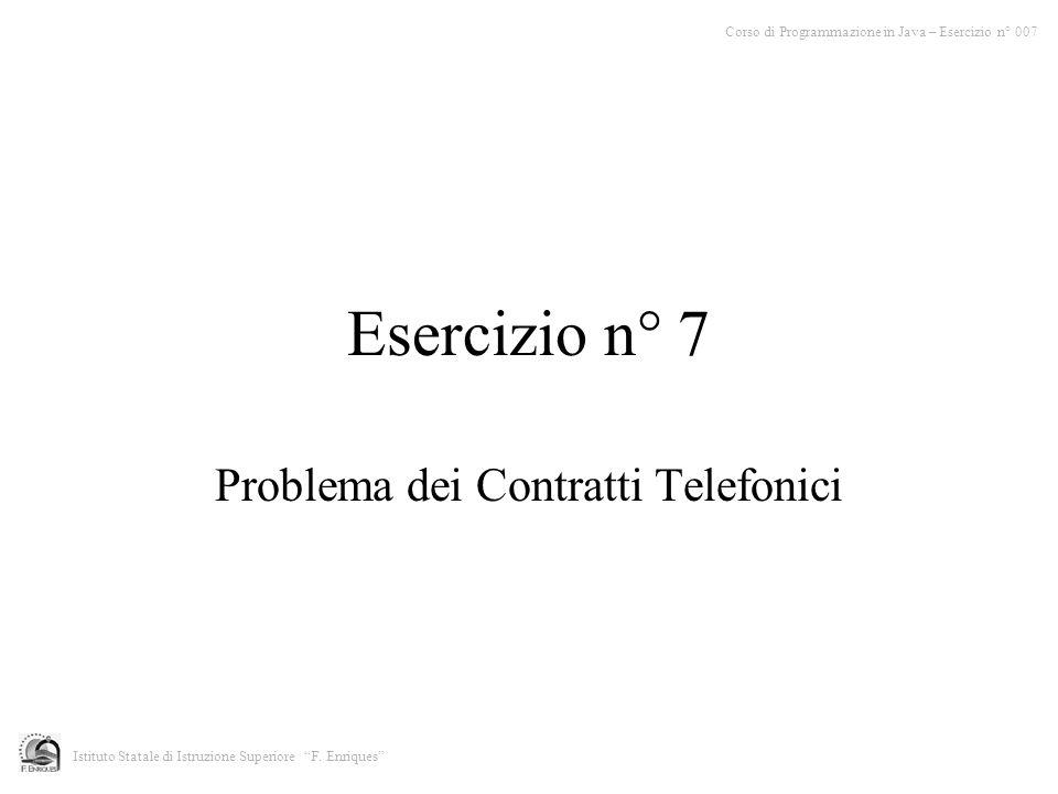Problema dei Contratti Telefonici