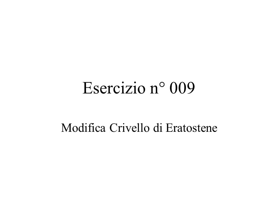Modifica Crivello di Eratostene