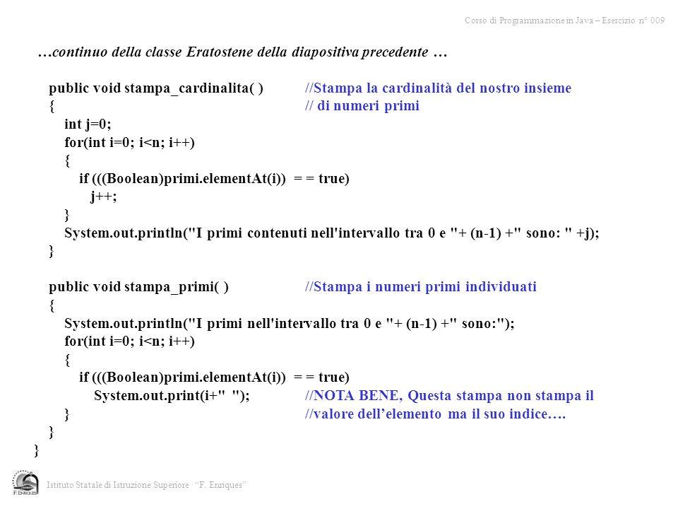 …continuo della classe Eratostene della diapositiva precedente …