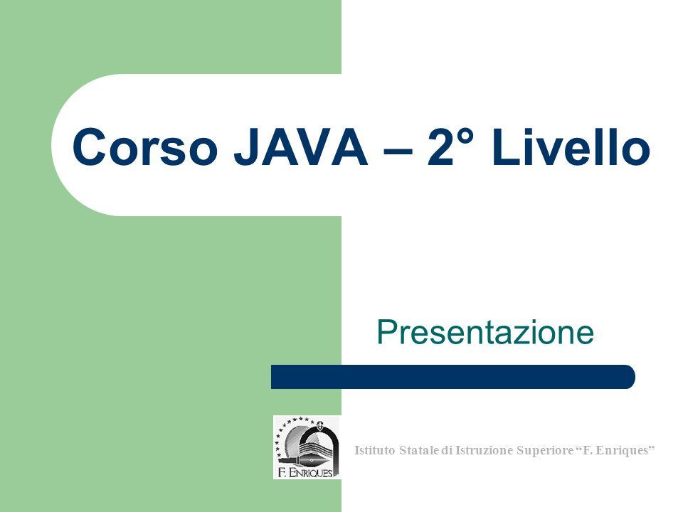 Corso JAVA – 2° Livello Presentazione