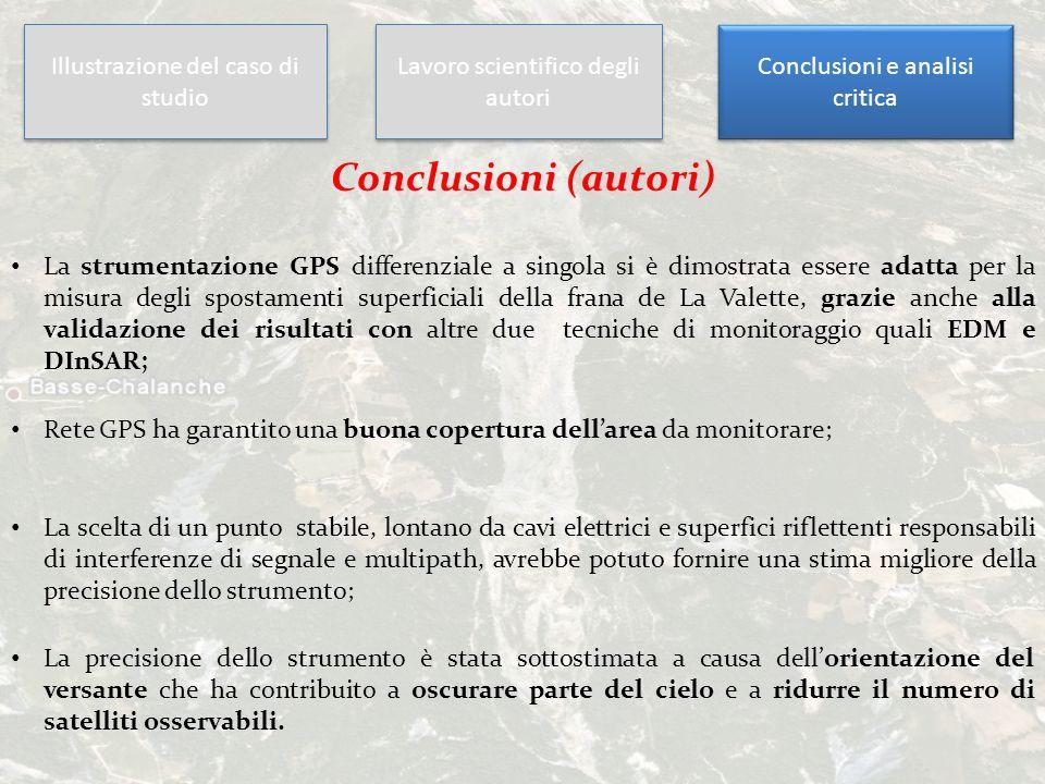 Conclusioni (autori) Illustrazione del caso di studio