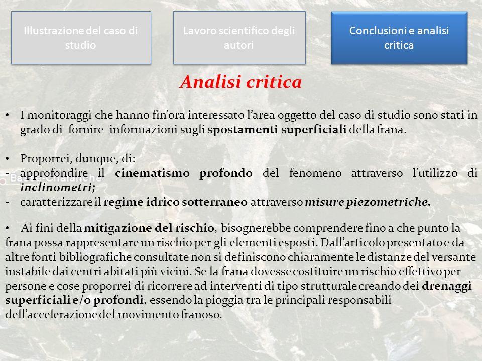 Analisi critica Illustrazione del caso di studio