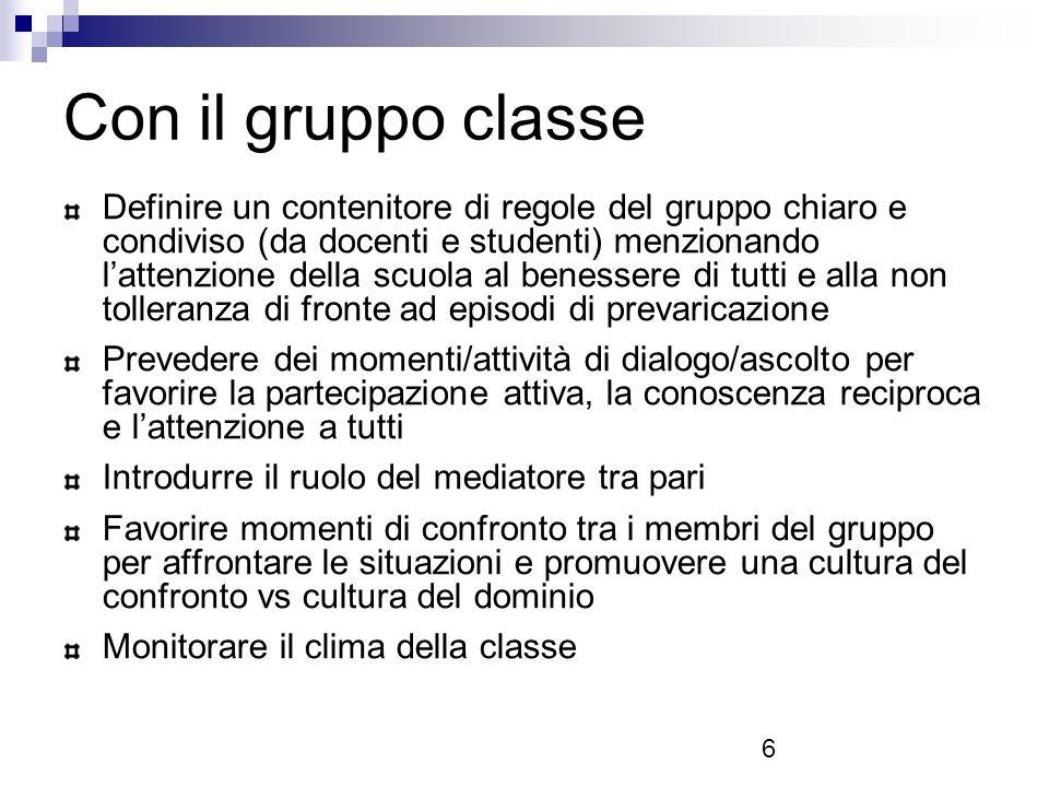 Con il gruppo classe