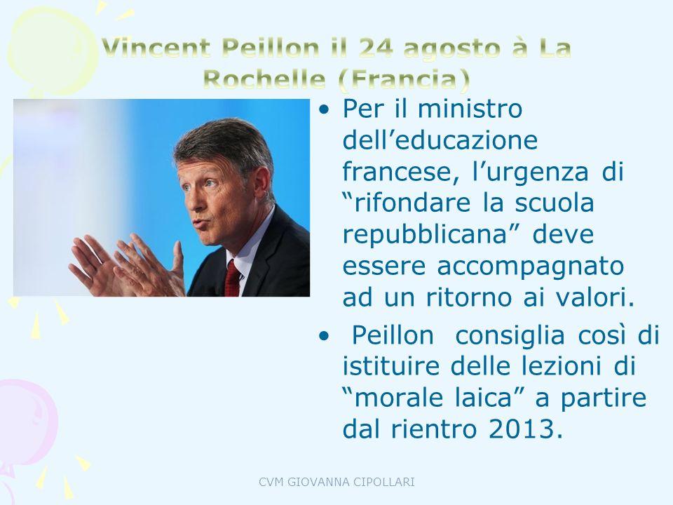 Vincent Peillon il 24 agosto à La Rochelle (Francia)