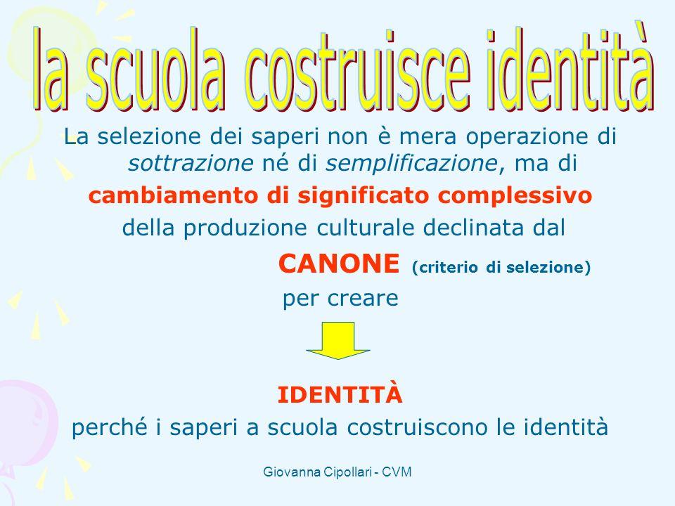 cambiamento di significato complessivo CANONE (criterio di selezione)