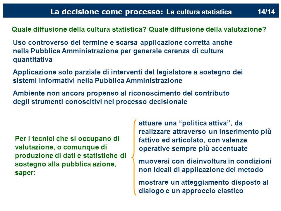 La decisione come processo: La cultura statistica