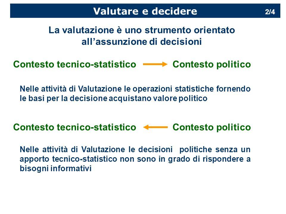 La valutazione è uno strumento orientato all'assunzione di decisioni