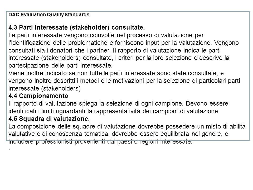 4.3 Parti interessate (stakeholder) consultate.