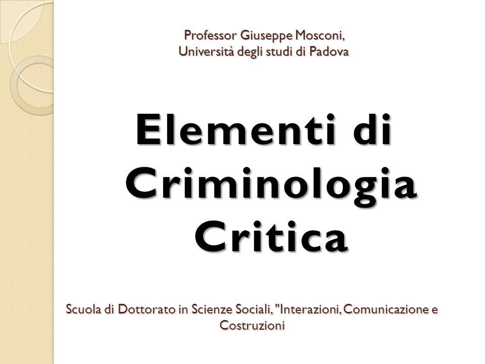 Elementi di Criminologia Critica