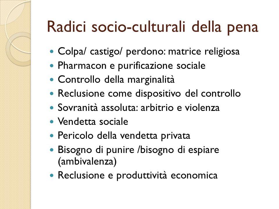 Radici socio-culturali della pena