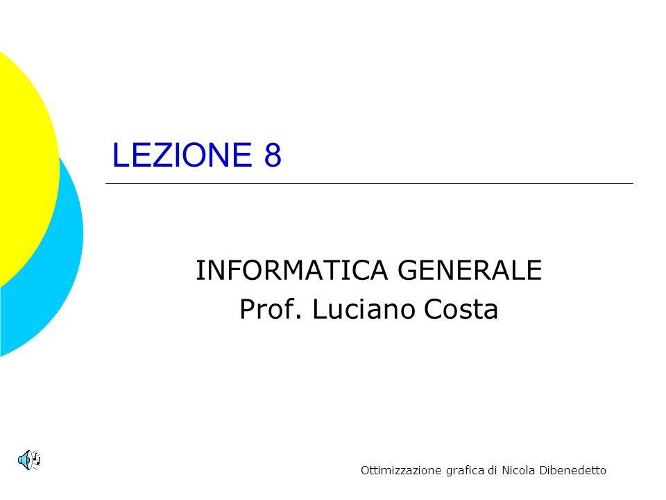 INFORMATICA GENERALE Prof. Luciano Costa