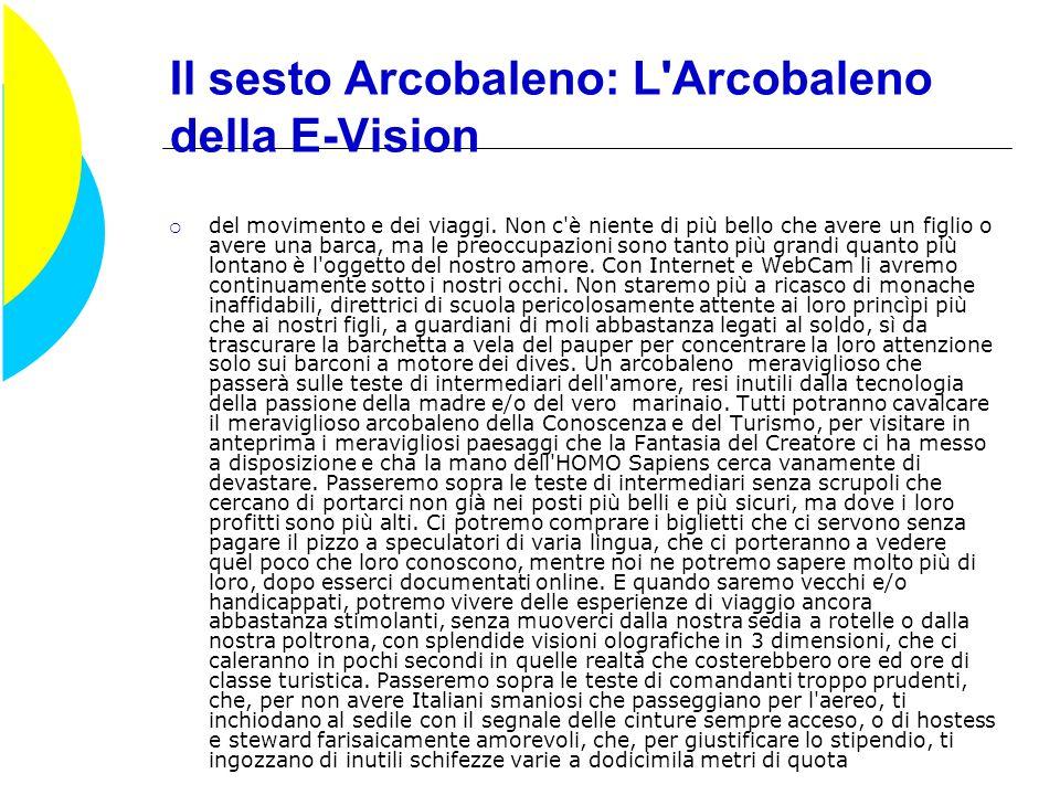 Il sesto Arcobaleno: L Arcobaleno della E-Vision