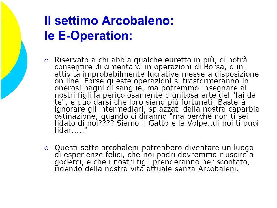 Il settimo Arcobaleno: le E-Operation: