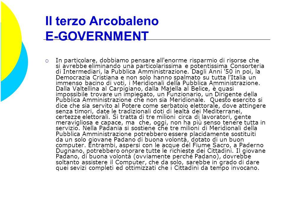Il terzo Arcobaleno E-GOVERNMENT