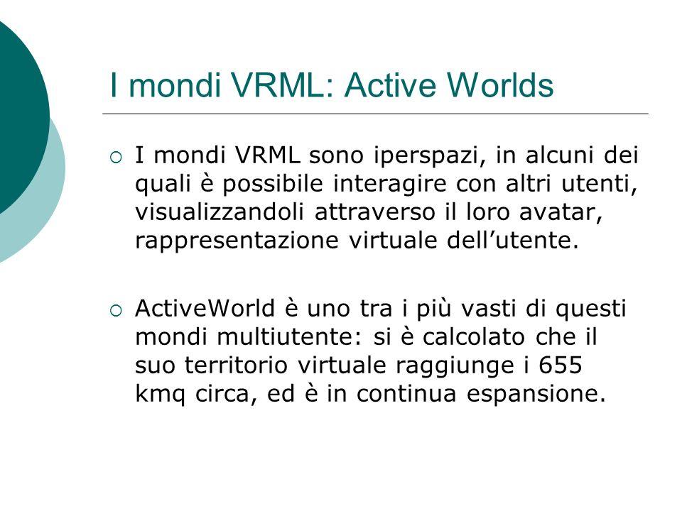 I mondi VRML: Active Worlds