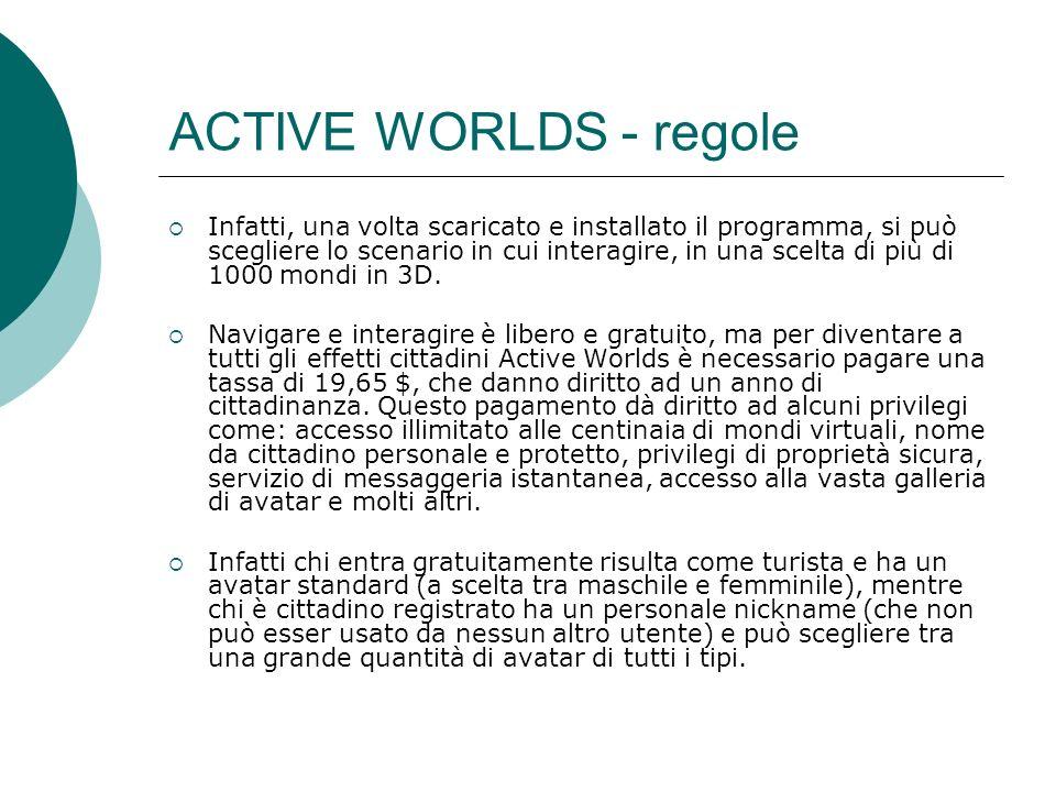 ACTIVE WORLDS - regole
