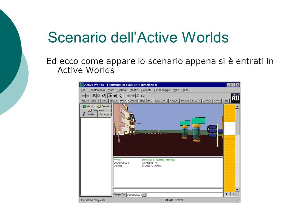 Scenario dell'Active Worlds