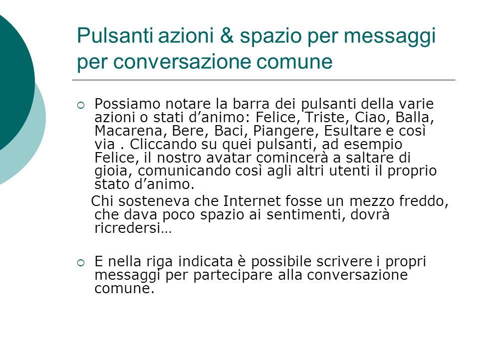 Pulsanti azioni & spazio per messaggi per conversazione comune