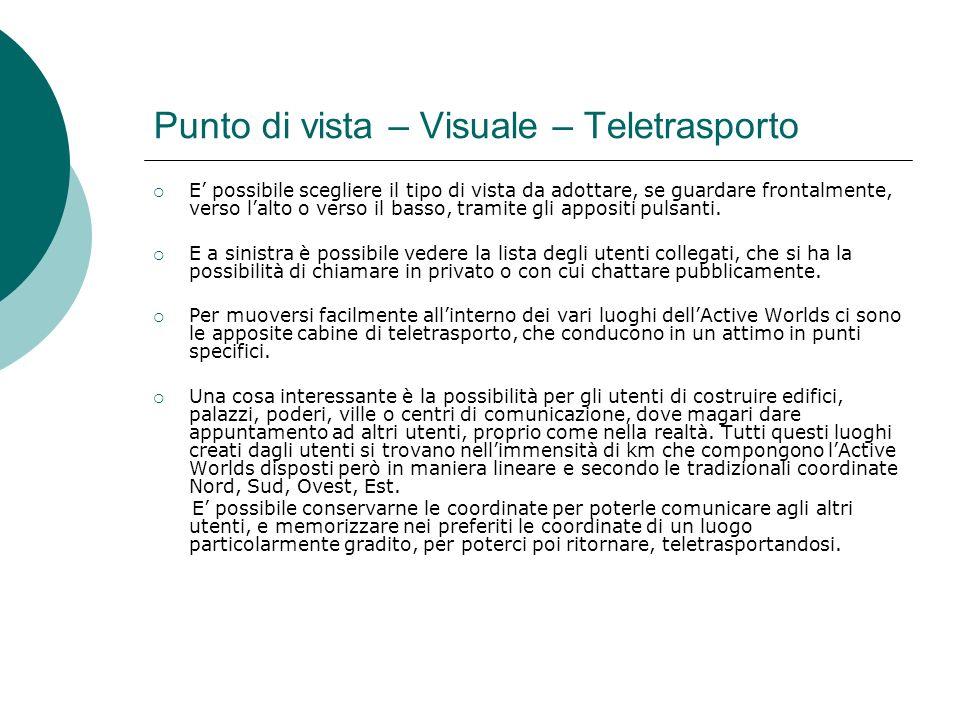 Punto di vista – Visuale – Teletrasporto