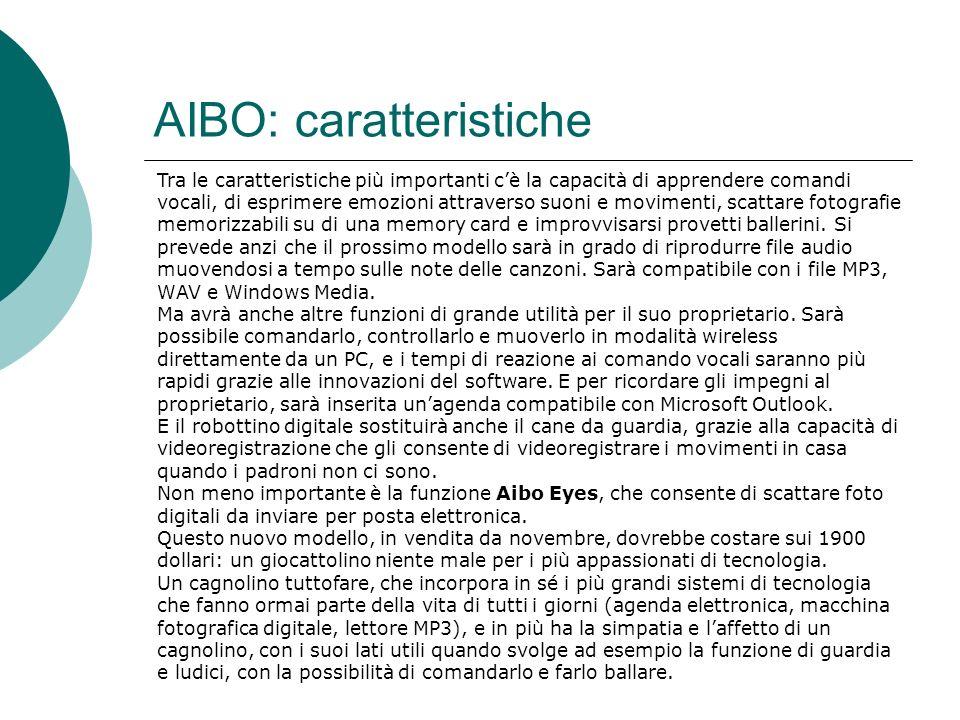 AIBO: caratteristiche