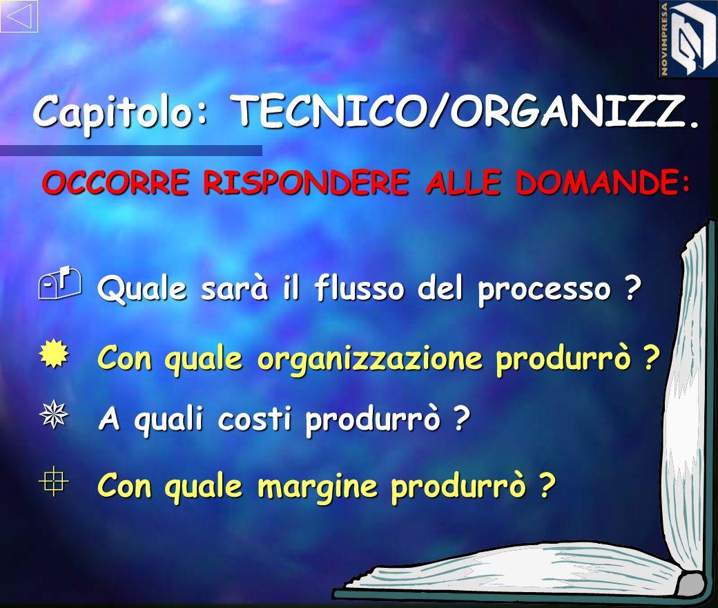 Capitolo: TECNICO/ORGANIZZ. OCCORRE RISPONDERE ALLE DOMANDE: