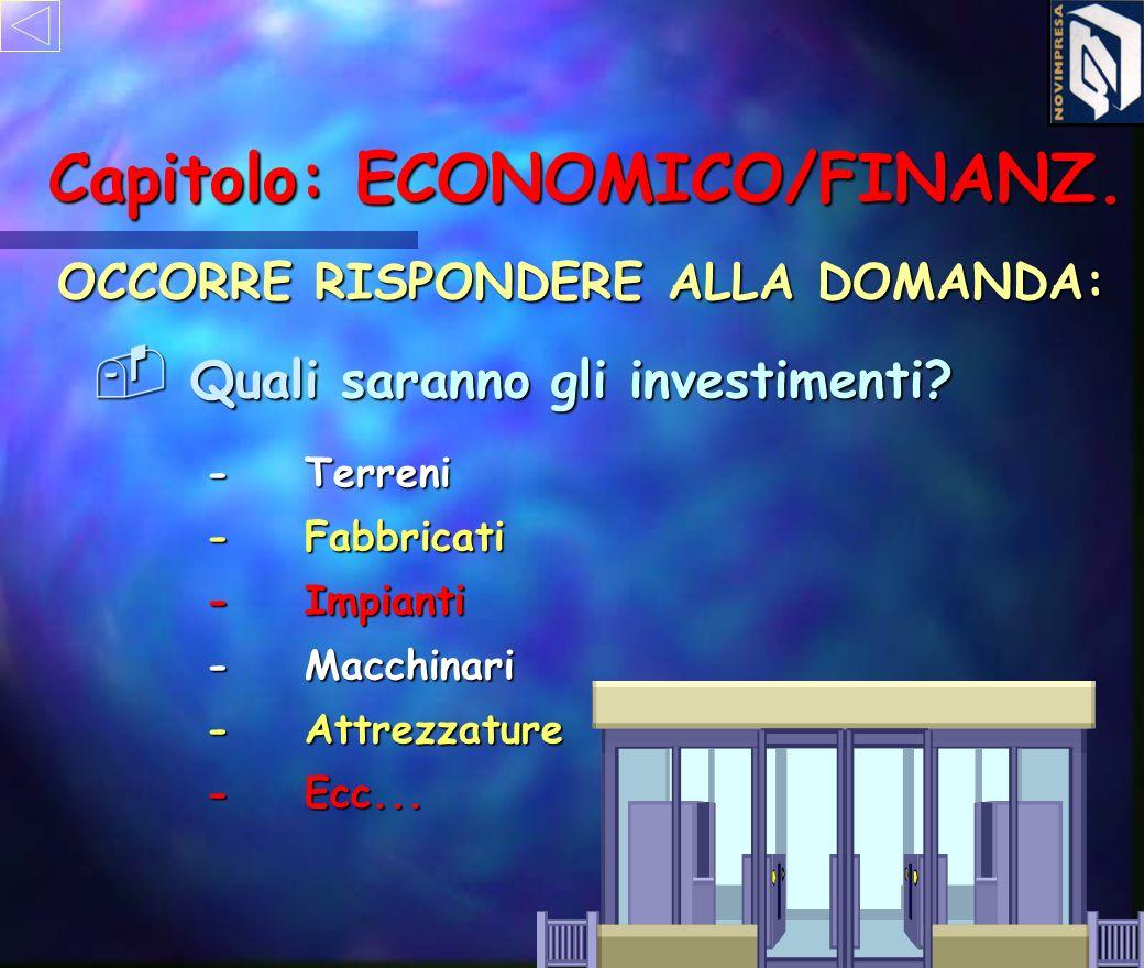Capitolo: ECONOMICO/FINANZ.