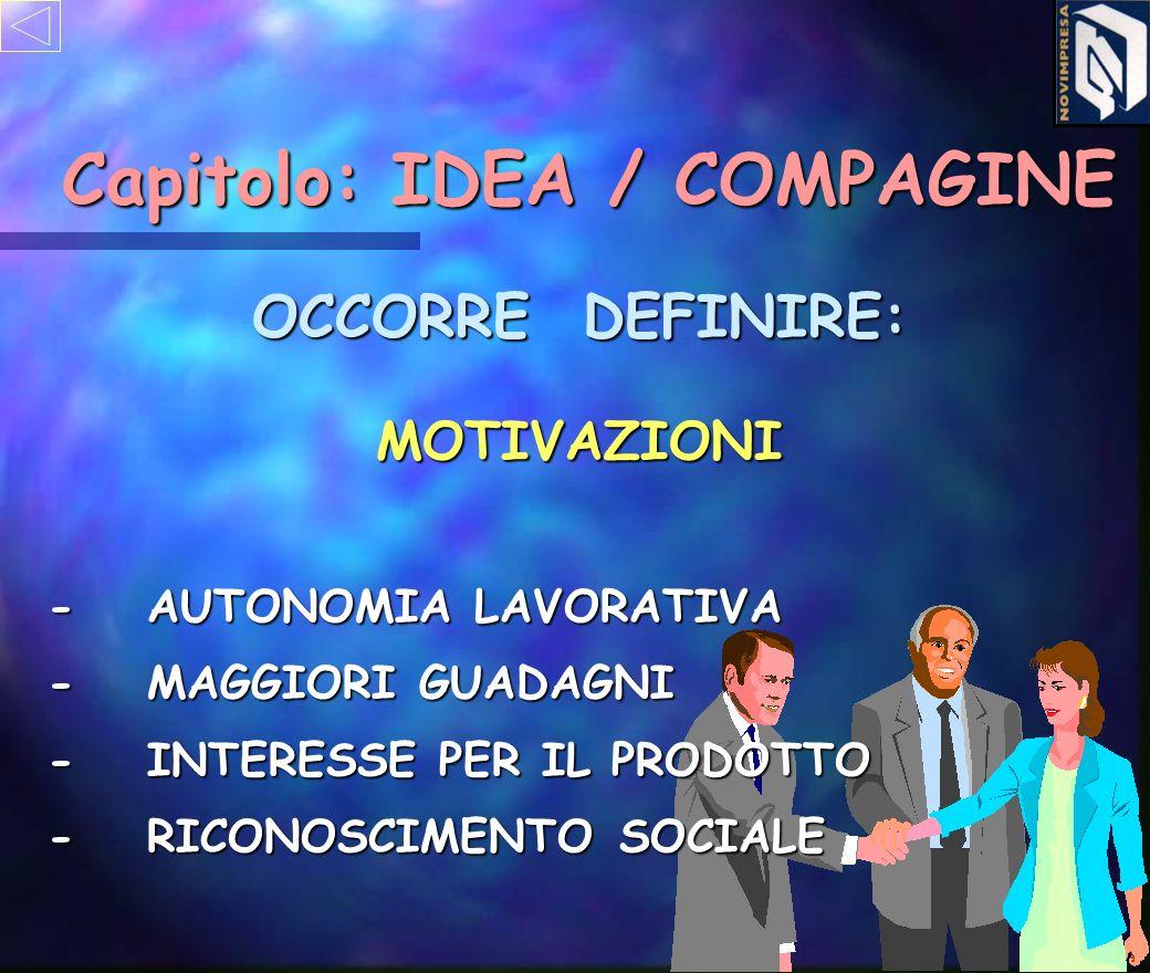 Capitolo: IDEA / COMPAGINE