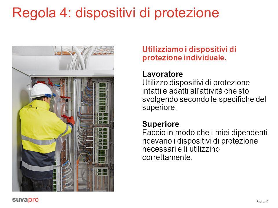 Regola 4: dispositivi di protezione