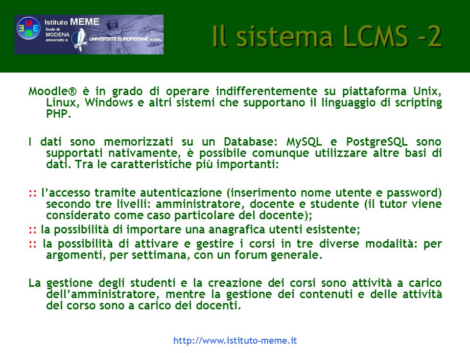 Il sistema LCMS -2
