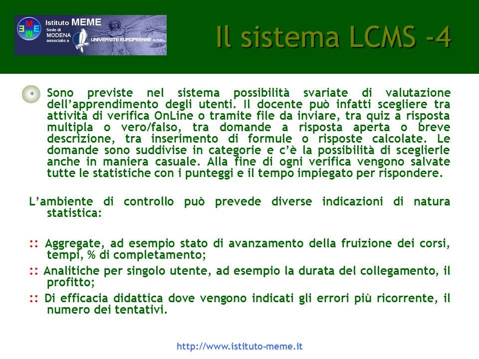 Il sistema LCMS -4