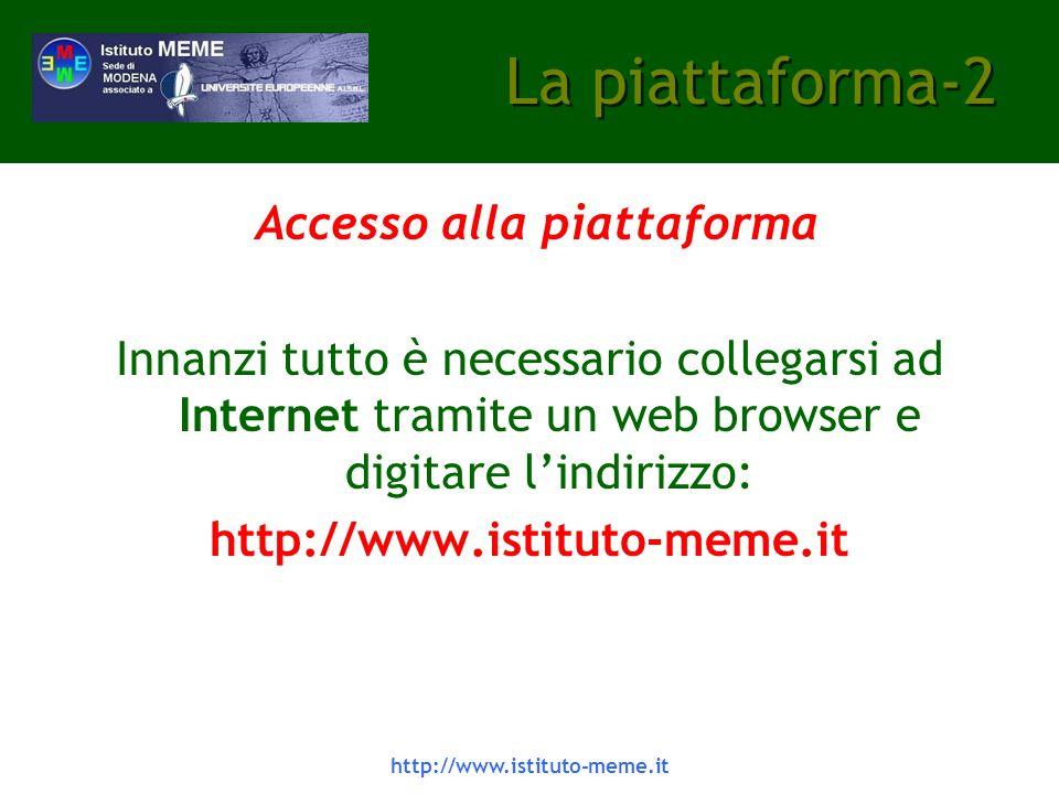 Accesso alla piattaforma