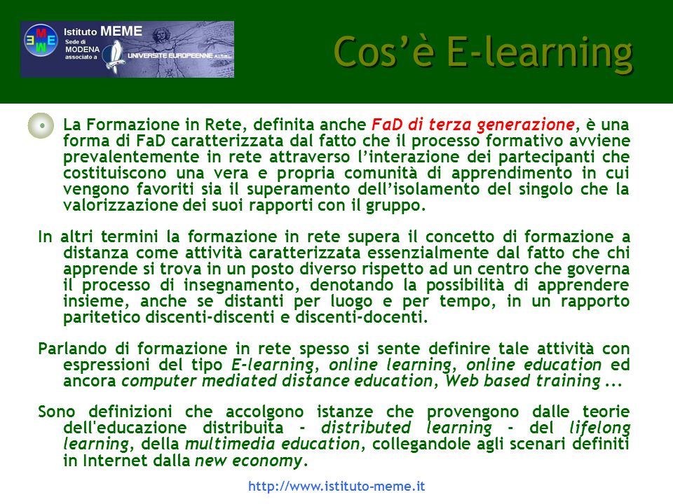 Cos'è E-learning
