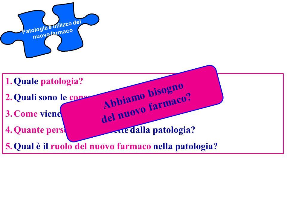 Patologia e utilizzo del nuovo farmaco
