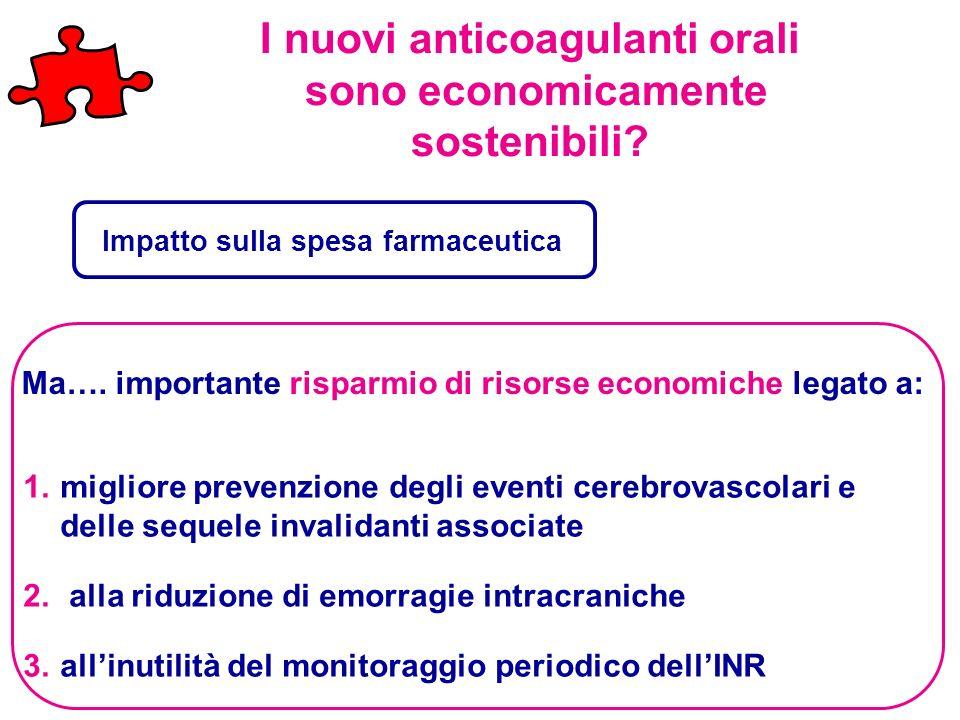 I nuovi anticoagulanti orali sono economicamente sostenibili