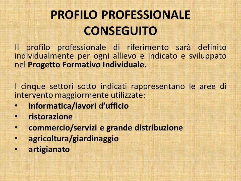 PROFILO PROFESSIONALE CONSEGUITO