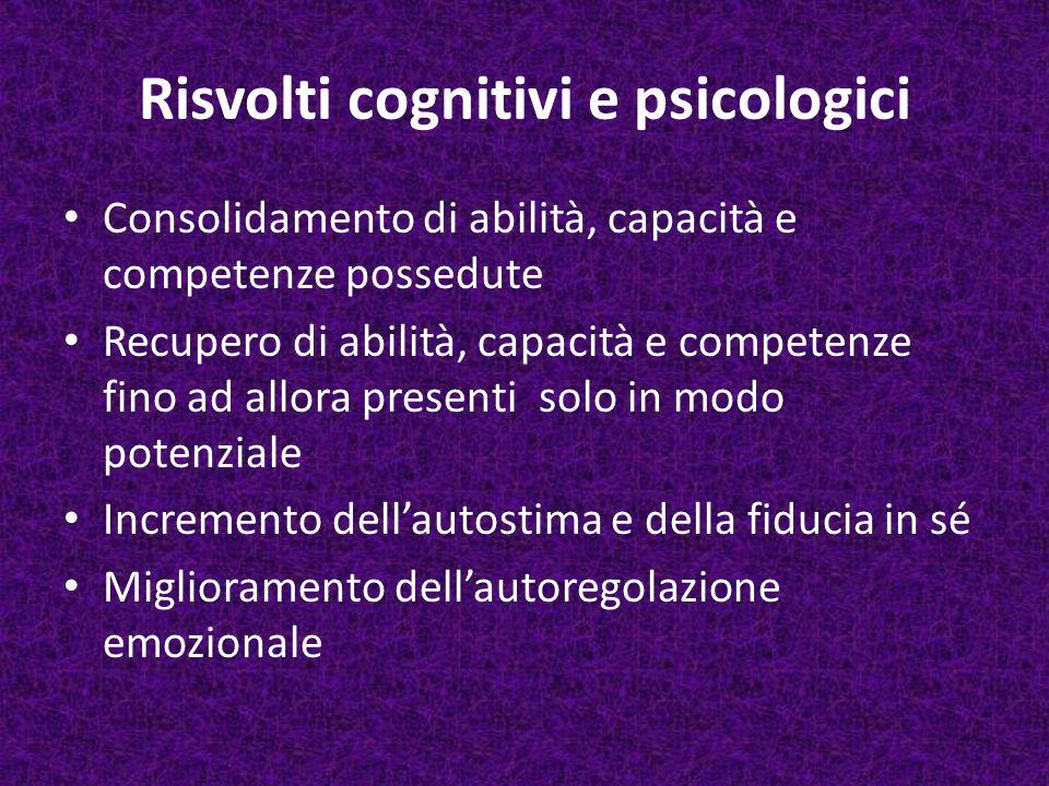 Risvolti cognitivi e psicologici