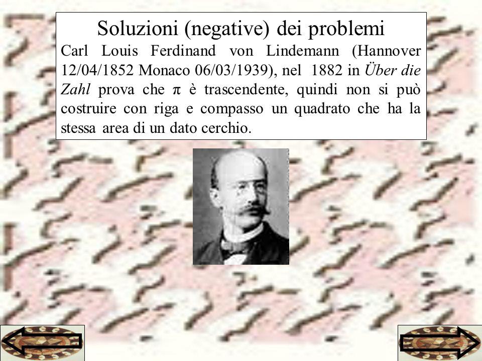 Soluzioni (negative) dei problemi