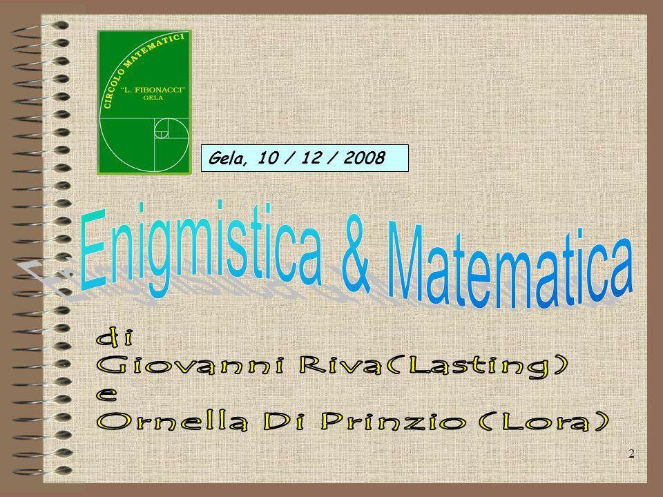 Enigmistica & Matematica