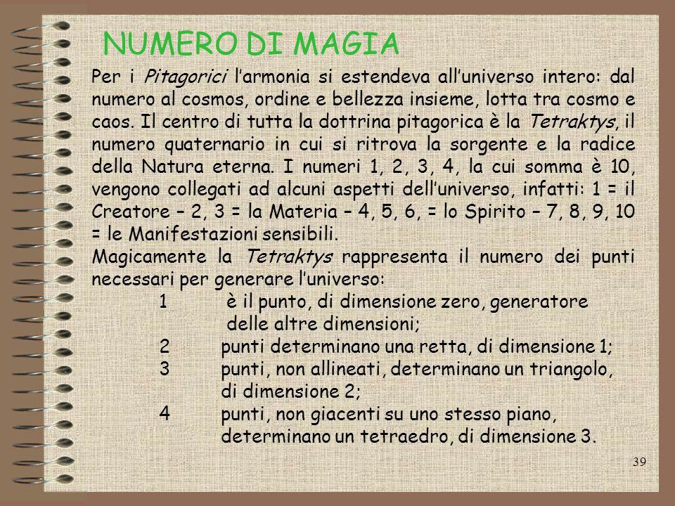 NUMERO DI MAGIA