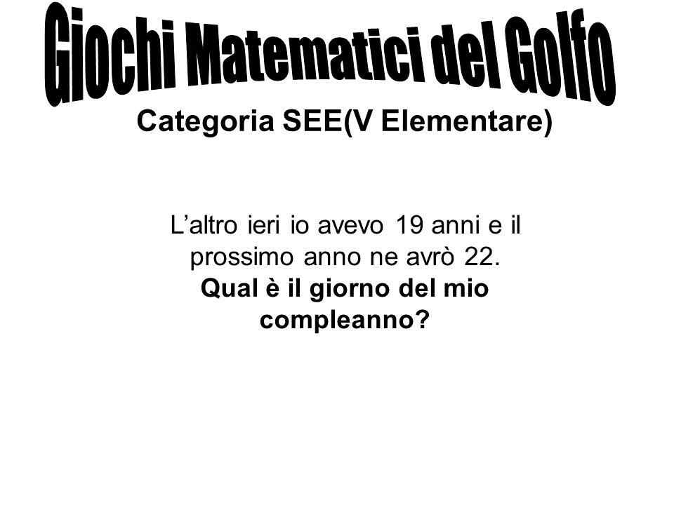 Categoria SEE(V Elementare)