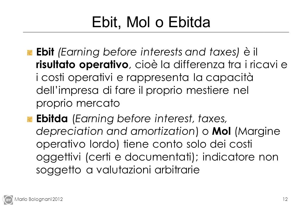 Ebit, Mol o Ebitda