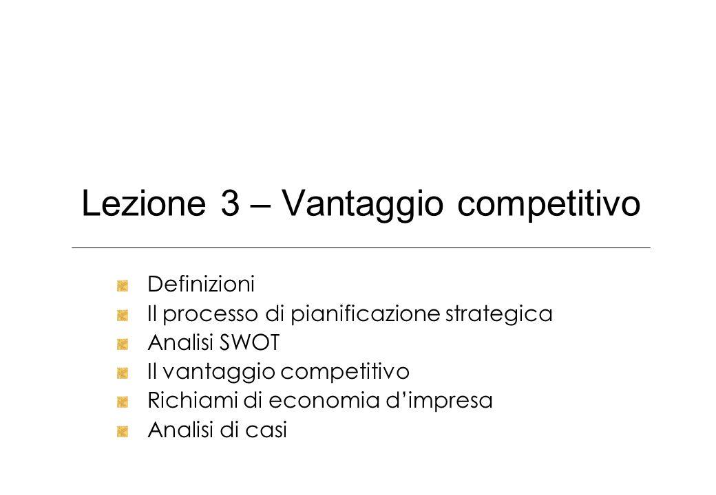 Lezione 3 – Vantaggio competitivo