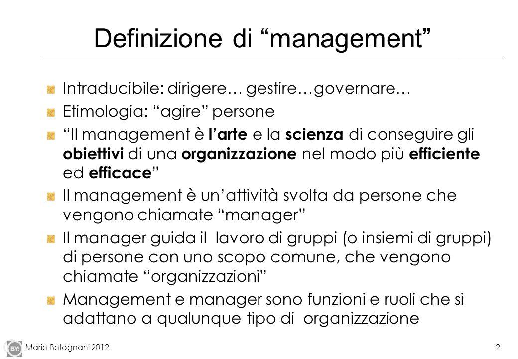 Definizione di management