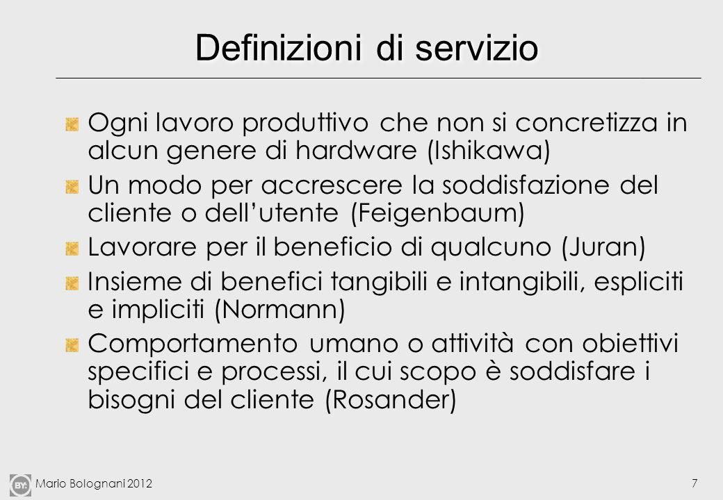 Definizioni di servizio
