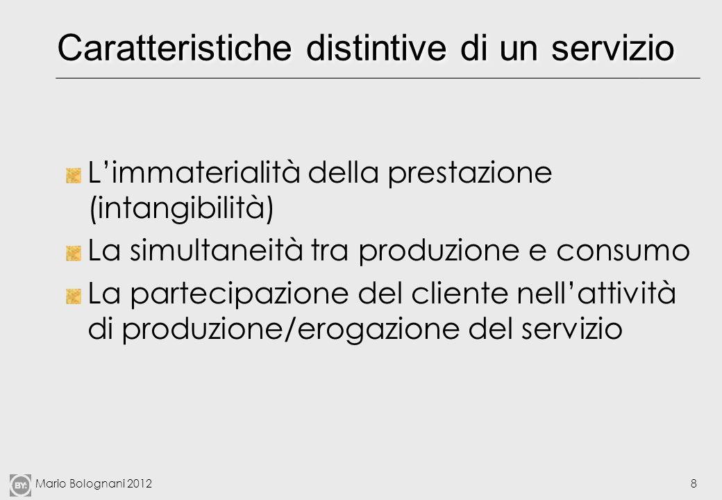 Caratteristiche distintive di un servizio